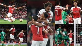Arsenal - Vorskla 4-2: Aubameyang lập cú đúp, Welbeck và Oezil cùng ghi bàn