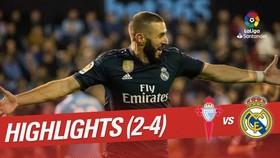 Celta Vigo - Real 2-4: Cabral phản lưới, Benzema, Ramos, Ceballos cùng tỏa sáng