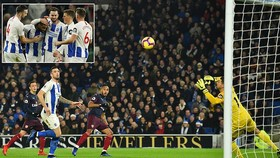 Brighton & Hove Albion - Arsenal 1-1: Aubameyang khai màn phút thứ 7 nhưng Locadia kịp ghìm chân