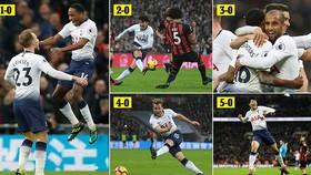 Tottenham - Bournemouth 5-0: Erikssen, Son Heung-Min, Lucas Moura, Harry Kane giành ngôi nhì bảng