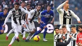 Juventus - Sampdoria 2-1: Ronaldo đưa Juve đào sâu kỷ lục 19 trận bất bại