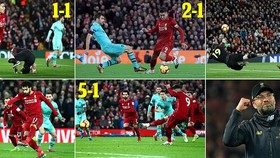 Liverpool - Arsenal 5-1: Roberto Firmino ghi hattrick, Mane, Salah mở tiệc tất niên cho Jurgen Klopp
