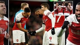 Arsenal - Fulham 4-1: Xhaka, Lacazette, Ramsey, Aubameyang giải vận đầu năm