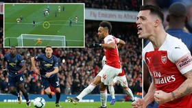 Arsenal - Man United 2-0: Xhaka, Aubameyang giúp Unai Emery hạ Solskjaer