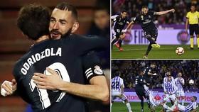 Valladolid - Real Madrid 1-4: Benzema lập cú đúp, Varane, Modric góp công, HLV Solari giành 3 điểm