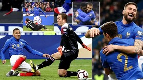 Pháp - Iceland 4-0: Umtiti, Giroud, Mbappe, Griezmann tỏa sáng, HLV Deschamps thắng tưng bừng