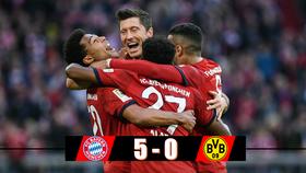 Bayern Munich - Borussia Dortmund 5-0: Hummels, Lewandowski, Martinez, Gnabry mang chiến thắng 5 sao