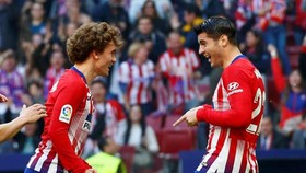 Atletico Madrid - Celta Vigo 2-0: Song tấu Griezmann - Morata khoe tài, HLV Simeone thắng dễ
