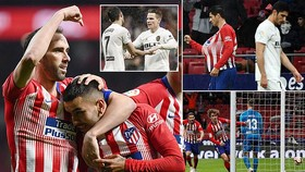 Atletico Madrid - Valencia 3-2: Morata, Griezmann, Correa giúp Simeone ngăn Barca sớm đăng quang
