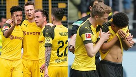 Dortmund - Schalke 2-4: Reus, Wolf thẻ đỏ, Caligiuri, Sane. Embolo phá giấc mơ vô địch của Dortmund