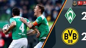 Werder Bremen - Borussia Dortmund 2-2: Pulisic, Alcacer ghi bàn, Mohwald, Pizarro níu chân Dortmund
