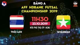 Trực tiếp Thái Lan - Myanmar - AFF HDBank Futsal Championship 2019