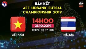 Trực tiếp Việt Nam - Thái Lan - AFF HDBank Futsal Championship 2019