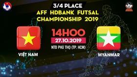 Trực tiếp Việt Nam - Myanmar, AFF HDBank Futsal Championship 2019