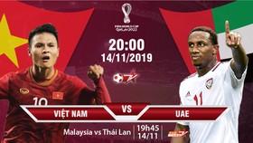 Trực tiếp, Việt Nam - UAE, Vòng loại World Cup 2022