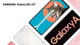 Galaxy A71 và Galaxy A51 phiên bản Hồng Crush Trendy