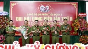 """Đại hội Đảng bộ Tiểu đoàn 1, Trung đoàn Cảnh sát cơ động Đông Nam TPHCM """"Đoàn kết - Dân chủ - Kỷ cương - Đổi mới"""""""
