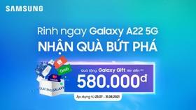 Samsung giới thiệu Galaxy A22 5G kết nối siêu tốc