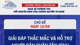 """Livestream """"Dân hỏi – Thành phố trả lời"""": Hỗ trợ người dân quận Tân Bình và huyện Cần Giờ"""