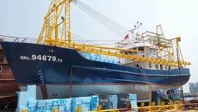 Tàu vỏ thép của ông Trần Văn Liên nằm bờ đã hơn hai năm do tranh chấp các bên liên quan