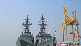 Hai tàu huấn luyện thuộc Lực lượng tự vệ trên biển Nhật Bản cập cảng Tiên Sa