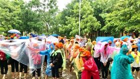 Học sinh Quảng Nam diễn tập ứng phó sóng thần
