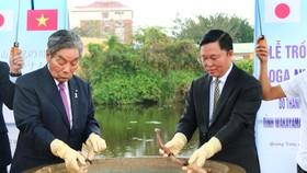 Lễ trồng hoa sen Oga tại Quảng Nam