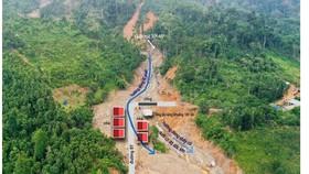 Khu vực sạt lở ở Trà Leng
