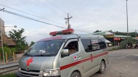 Xe cứu thương chở khách về miền Tây không thực hiện các biện pháp phòng chống dịch Covid-19
