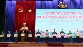 Tri ân đoàn cán bộ y tế tỉnh Bắc Giang hỗ trợ Long An phòng, chống dịch Covid-19