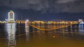 Một góc thành phố trẻ Đồng Hới vào đêm