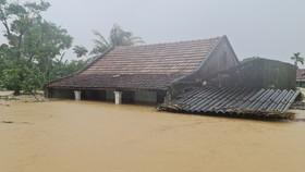 Năm 2020, 2 huyện Quảng Ninh, Lệ Thủy ngập sâu nhất miền Trung. Ảnh: MINH PHONG