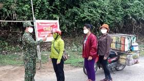 Chốt kiểm soát dịch Covid-19 tại Zìn Zìn, thuộc đồn biên phòng làng Mô, xã Trường Sơn, huyện Quảng Ninh, tỉnh Quảng Bình