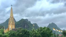 Nhà thờ giáo xứ Bàu Sen, xã Phúc Trạch, huyện Bố Trạch, tỉnh Quảng Bình làm tốt công tác phòng chống dịch covid-19