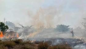 Cháy rừng từ 9g sáng đến 16g chiều tại xã Ngư Thủy Bắc, huyện Lệ Thủy, tỉnh Quảng Bình