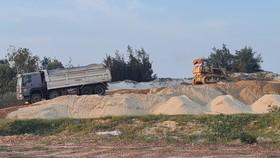 Khu vực tập kết cát sai phạm