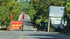 Chốt trên luồng xanh quốc gia đường Hồ Chí Minh qua xã Phú Định, huyện Bố Trạch, Quảng Bình