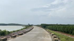 Hồ Thanh Sơn, một trong những hồ đập được sửa chữa trước mùa mưa bão