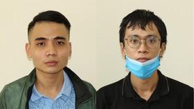 Hai đối tượng Lương Minh Ngọc và Nguyên Thái Quý (đeo kính)