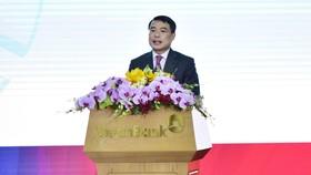 Thống đốc Ngân hàng Nhà nước Lê Minh Hưng phát biểu tại hội nghị của VietinBank