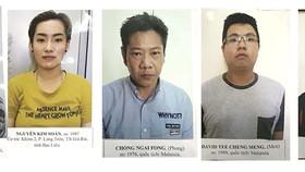 Các đối tượng đọc trộm thông tin ATM để chiếm đoạt tiền vừa bị công an TP Cần Thơ bắt giữ. Ảnh: Công an cung cấp