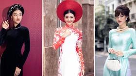 Á hậu Kiều Loan khoe sắc nền nã trong trang phục áo dài