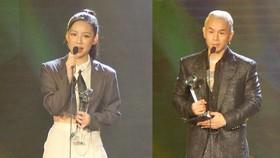 Binz và Amee đoạt giải ca sĩ của năm tại Giải thưởng Làn sóng xanh 2020