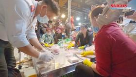 Kiểm tra thực phẩm tết từ chợ đầu mối, kho lạnh