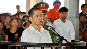 Bị cáo Lê Lâm Hưng tại phiên tòa