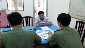 Cơ quan công an làm việc với đối tượng Lâm