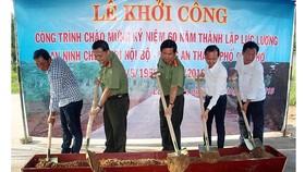 Công an TP Cần Thơ vận động 1 tỷ đồng xây đường bê tông nông thôn