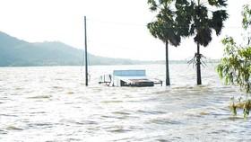 Mực nước lũ đầu nguồn sông Cửu Long đang lên