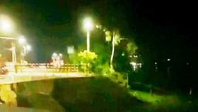 Lại tiếp tục sạt lở Quốc lộ 91 ở An Giang