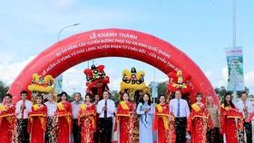 Khánh thành tỉnh lộ 955A kết hợp đê bao ngăn lũ ở Tứ giác Long Xuyên